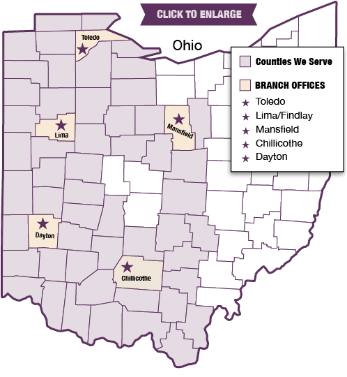 Ohio Counties Served