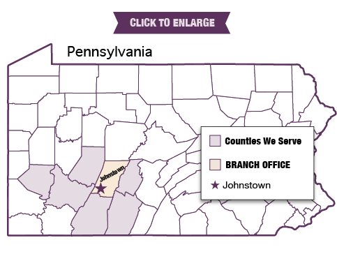 PA Counties Served